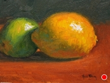 Lemon and A Lime by Kami Mendlik Oil ~ 6 x 8