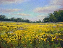 Restoration Prairie Fields (of 95 between Marine and Stillwater) by Kami Mendlik Oil ~ 11 x 14