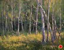 Poplar Grove by Kami Mendlik Oil ~ 11 x 14