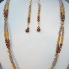 Topaz Ombre crystal necklace, bracelet and earring set
