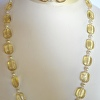 Topaz and Pearl Necklace and Bracelet Set