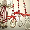 Christmas Crystal Ornaments set of 4