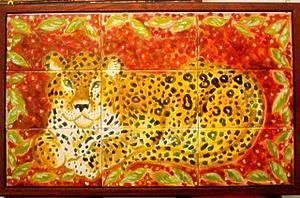 "Leopard by Gemma Insinna ceramic tile ~ 30"" x 44"""