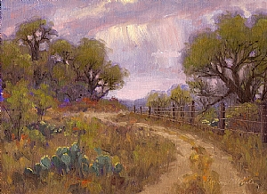 Rain Tease by Bonny C. White Oil ~ 9 x 12