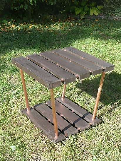2x4 copper pipe trapezoid table for Table y copper tube