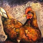 Micah Goguen - Mixed Media Collage: Farm Animals