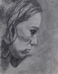 Eve by Kyle V Thomas Charcoal ~ 12 x 9