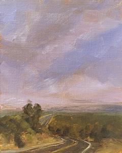 Road to Wupatki by Kyle V Thomas Oil ~ 10 x 8