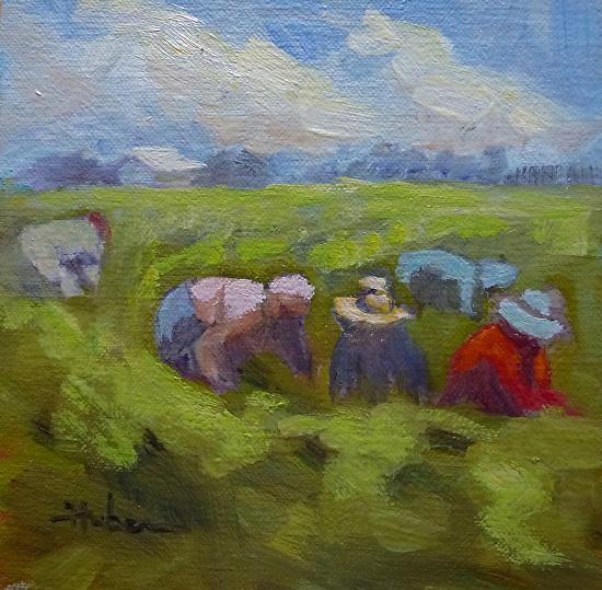 Valley of the World, DAILY PAINTING #3 by Patricia Huber Oil ~ 6 x 6