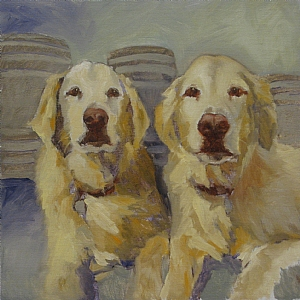 The Boys by Patricia Huber Oil ~ 12 x 12