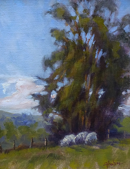 Spring Pasture by Patricia Huber Oil ~ 10 x 8