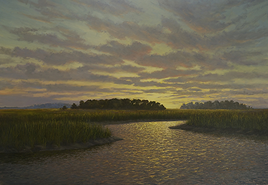 Edisto Sunset - Oil