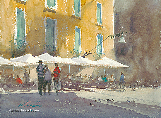 Afternoon, Venice, Italy IV - Watercolor