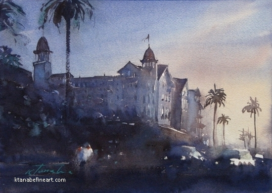 Coronado Sunset VII by Keiko Tanabe Watercolor ~ 8 1/4 x 11 1/2 inches (21 x 29 cm)