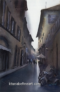Firenze, Italy VIII by Keiko Tanabe Watercolor ~ 21 x 14 inches (53 x 36 cm)