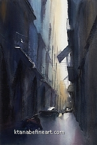 Napoli, Italy V by Keiko Tanabe Watercolor ~ 21 x 14 inches (53 x 36 cm)