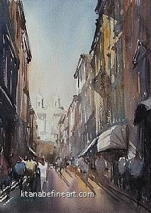 Roma, Italia XX by Keiko Tanabe Watercolor ~ 11 1/2 x 8 1/4 inches (29 x 21 cm)