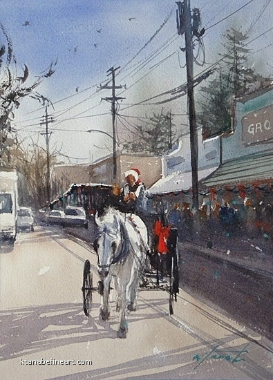 San Diego 100 (#93) - Christmas by Keiko Tanabe Watercolor ~ 11 1/2 x 8 1/4 inches (29 x 21 cm)