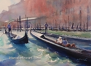 Venice Canal VII by Keiko Tanabe Watercolor ~ 8 1/4 x 11 1/2 inches (21 x 29 cm)