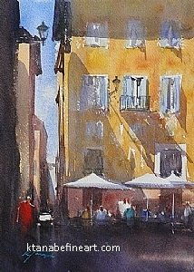 Roma, Italia XXVII by Keiko Tanabe Watercolor ~ 11 1/2 x 8 1/4 inches (29 x 21 cm)