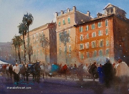 Roma, Italia XXXIX by Keiko Tanabe Watercolor ~ 8 1/4 x 11 1/2 inches (21 x 29 cm)