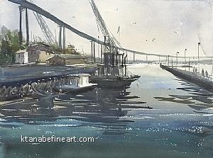 Barrio Logan, San Diego II by Keiko Tanabe Watercolor ~ 12 x 16 inches (31 x 41 cm)