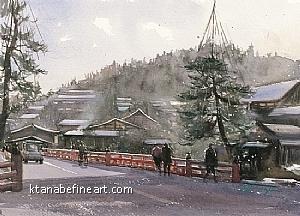 Takayama, Gifu, Japan I by Keiko Tanabe Watercolor ~ 8 1/4 x 11 1/2 inches (21 x 29 cm)