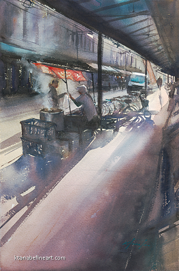 Journey Home XVI by Keiko Tanabe Watercolor ~ 21 1/2 x 14 1/4 inches (54.5 x 36 cm)