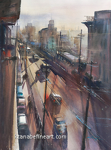 Journey Home XVII by Keiko Tanabe Watercolor ~ 30 x 22 inches (76 x 55 cm)