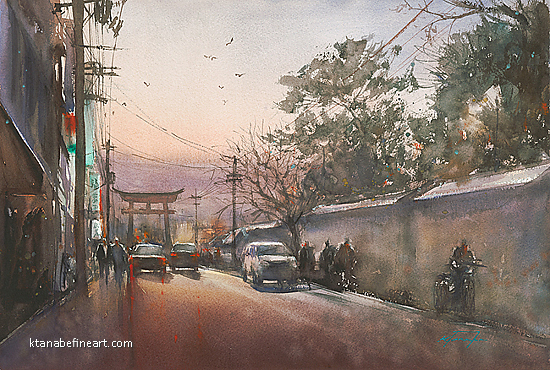 Journey Home XVIII by Keiko Tanabe Watercolor ~ 14 1/4 x 21 1/2 inches (36 x 54.5 cm)
