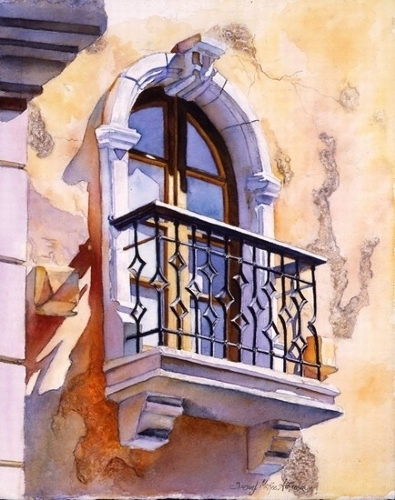 Morrocan Sunrise by SUSAN J ATKINSON Watercolor ~ 15 x 12