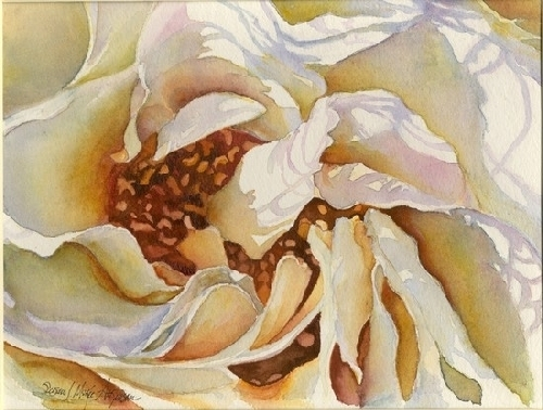 Inside Secret by SUSAN J ATKINSON Watercolor ~ 8 x 10