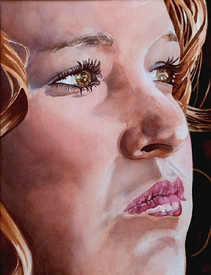 JESSICA by SUSAN J ATKINSON Watercolor ~ 14.5 x 11