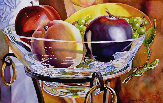 fruit one by SUSAN J ATKINSON Watercolor ~ 15 x 22