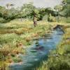 "Reflection~Sherman Creek, Mayport by Mary St. Germain Oil ~ 30"" x 24"""