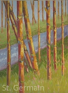 "Deep River ~ Bamboo Series #6 by Mary St. Germain Oil ~ 40"" x 30"" x"