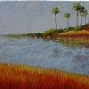 Seven Palms Across The St. Johns by Mary St. Germain Oil ~ 24 x 48