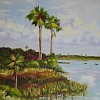 Palms at Guana by Mary St. Germain Oil ~ 24 x 18