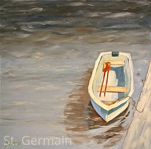 "Dockside by Mary St. Germain Oil ~ 20"" x 20"""