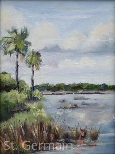 Grey Day at Guana by Mary St. Germain Oil ~ 12 x 9