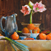 Oranges Piled in a Bowl