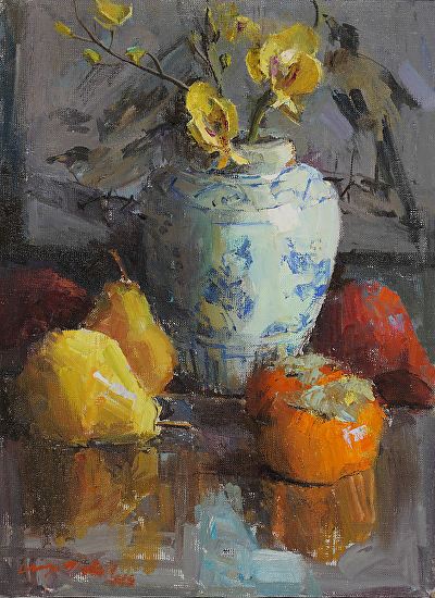 Persimmons and Pears - Oil