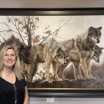Jenny Buckner  - Painting Wolves and Foxes at Wolf Park, Indiana