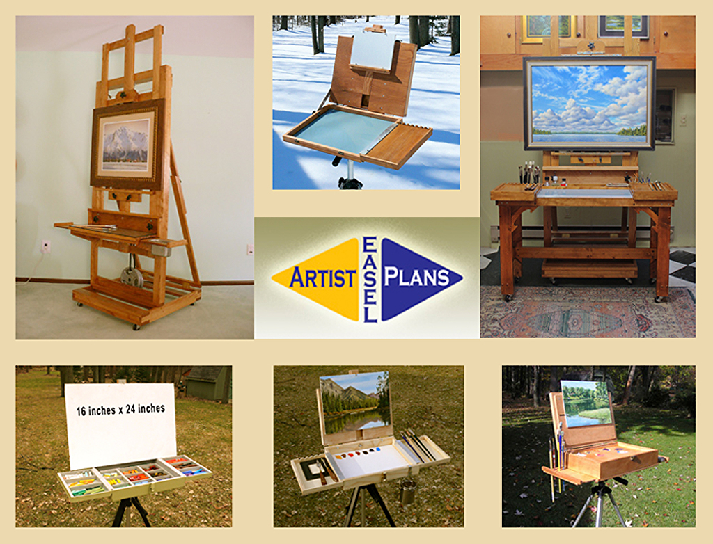 artist easel and taboret plans