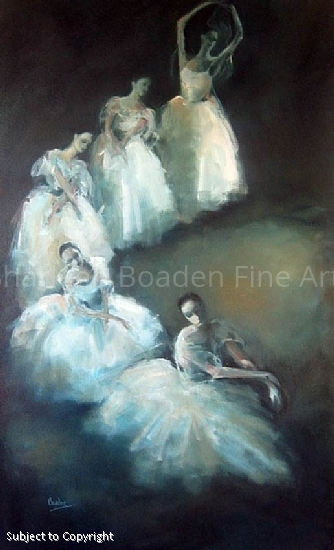 Five Ballerinas - Oil