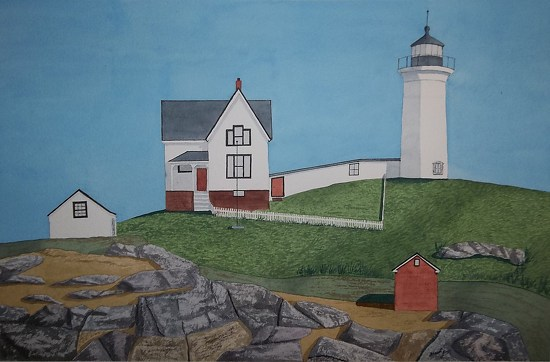 Cape Neddick Light - Watercolor