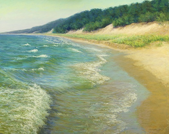 A Lake Michigan Day - Pastel