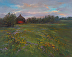 Sue Wipf Blooming Fields by the Round Barn by Sue Wipf