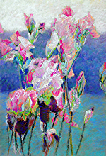 MOUNTAIN IRIS by Bill James Pastel ~ 25 x 18