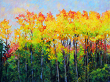 BRIGHT TREE LINE by Bill James Pastel ~ 18 x 24